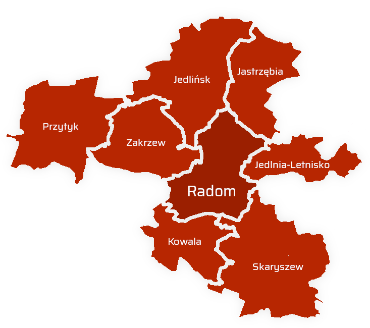 Komornik Radom - obszard działania - Rewir